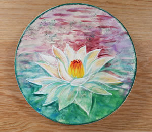 Lehigh Valley Lotus Flower Plate